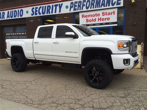 lifted white gmc pics for gt gmc trucks lifted white