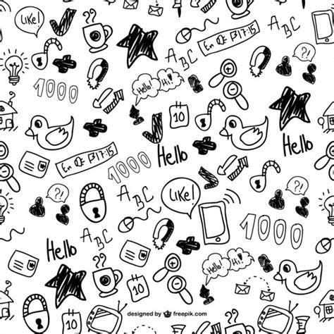 how to create a free doodle doodles seamless pattern vector free