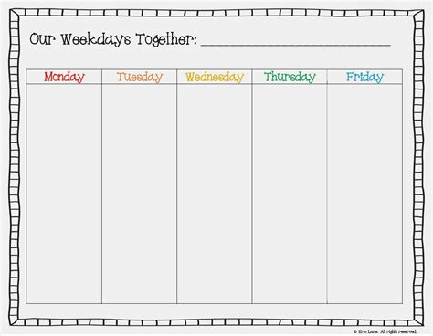weekday calendar template blank calendar template for weekdays calendar 2018 printable