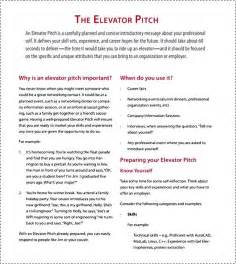 pitch template elevator pitch sle besttemplates123