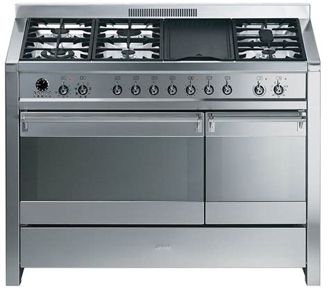buy smeg opera 120 dual fuel range cooker stainless steel free delivery currys