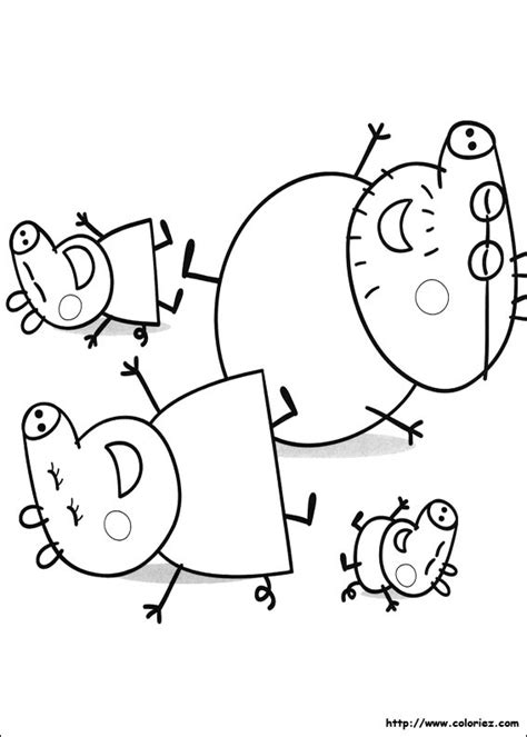 disney coloring pages for 3 year olds coloriage la famille cochon