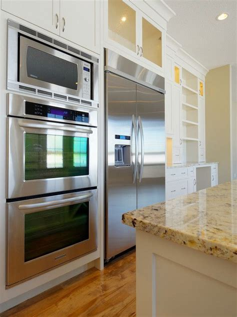 double oven kitchen design double oven next to refridgerator design pictures