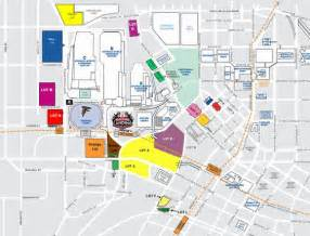 dome tailgating map stadium maps atlanta falcons dome one