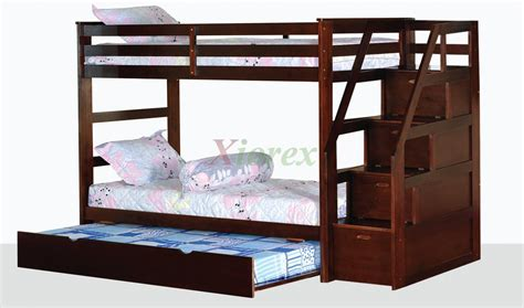 Trundle Bunk Bed With Stairs Alcor Bunk Bed With Storage Stairs And Trundle Xiorex
