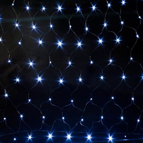 Battery Operated 90cm X 85cm White Outdoor Multi Effect 96 Battery Operated Net Lights