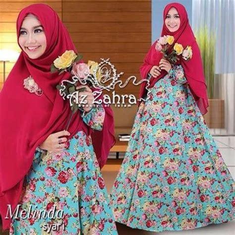 Baju Busana Muslim Gamis Wanita Motif Bunga Ckr Baloteli Ros Pink baju muslim wanita terbaru model gamis melinda azzahra