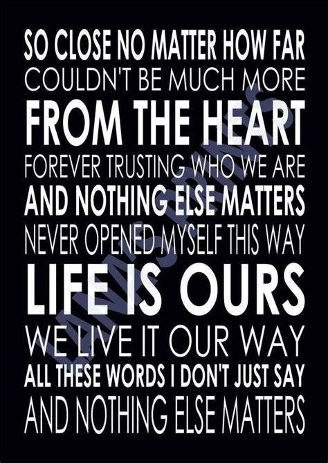 no else matters details about nothing else matters metallica word wall