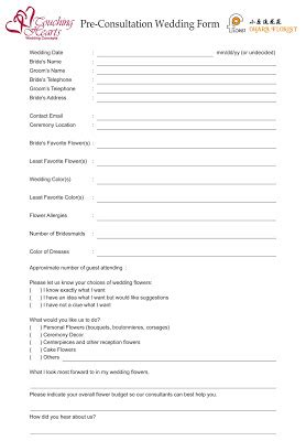 Bathroom Remodel Planner wedding flower proposal form template