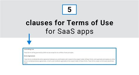 5 Clauses For Terms Of Use For Saas Apps Termsfeed Saas Terms Of Service Template