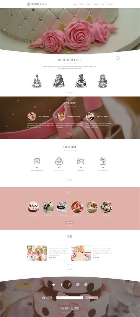 Wedding Cake Template by Wedding Cake Website Template