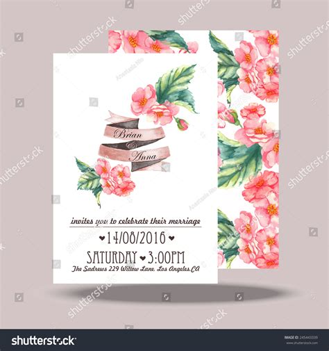 wedding invitation card design template wedding invitation card template stock vector