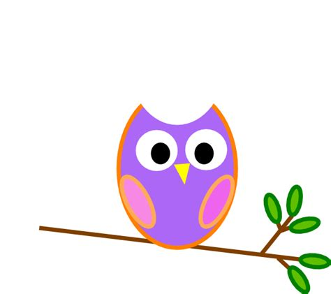 owl clipart pinkish purple owl clip at clker vector clip