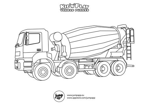 mixer truck coloring page concrete mixer truck printable coloring pages