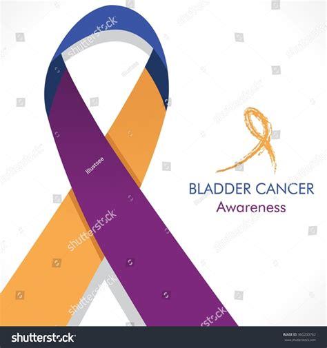 bladder cancer color bladder cancer awareness purpleblue marigold ribbon stock