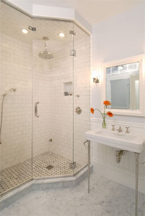 white subway tile walk in shower tiled showers tips and ideas for unique designs