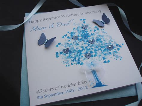 65th Wedding Anniversary Card Verses by Handmade Personalised Sapphire Wedding Anniversary Card Ebay