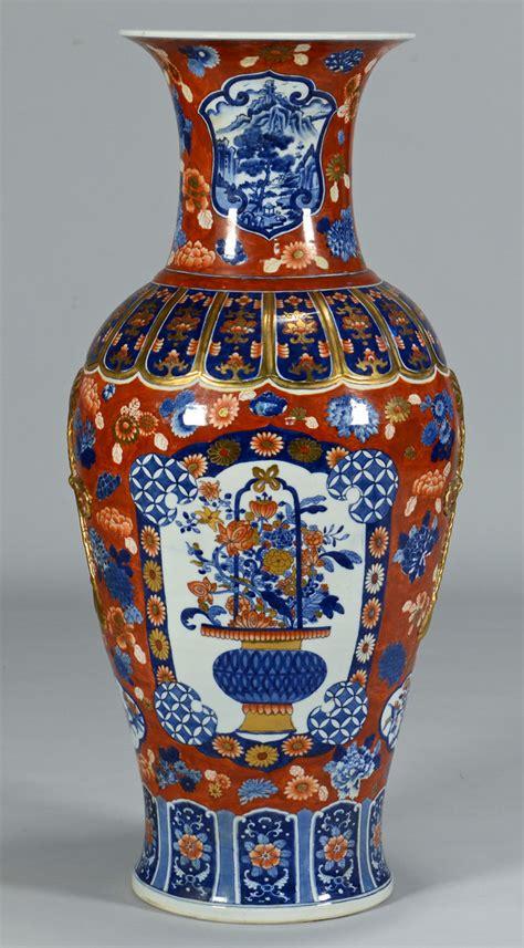 Imari Vases Prices by Lot 233 Monumental Japanese Imari Vase