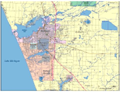 editable muskegon mi city map illustrator