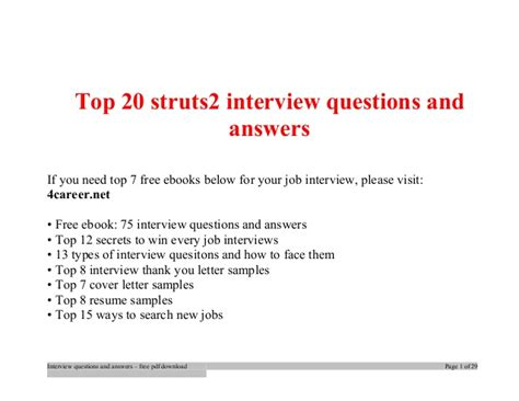 interview questions layout design top struts2 interview questions and answers job interview tips