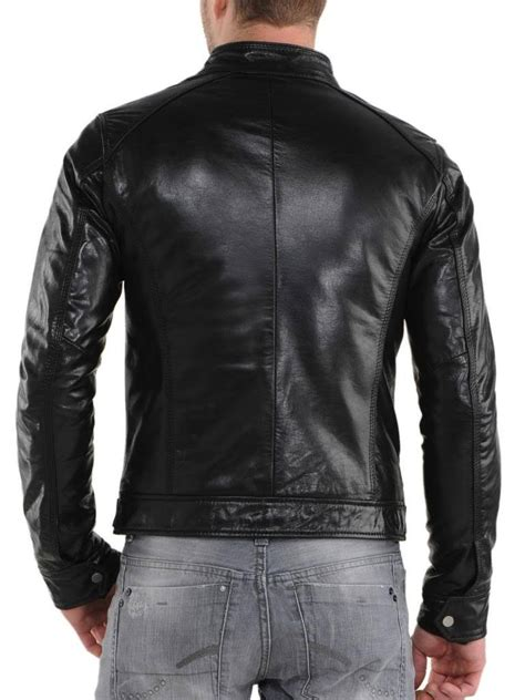 Handmade Leather Motorcycle Jackets - handmade mens biker leather jacket mens leather jacket