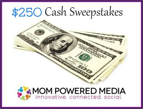 Cash Sweepstakes 2014 - 250 cash sweepstakes giveaway