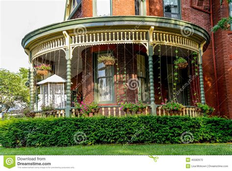 victorian bed and breakfast porch at a victorian brick bed and breakfast home stock photo image 45582670