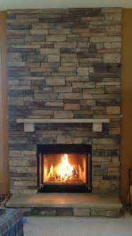 Country Fireplaces by Boral Chardonnay Country Ledgestone Fireplace Stacked With