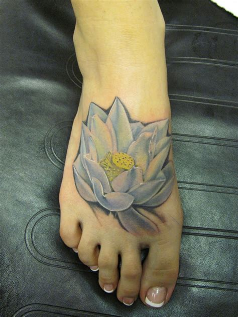watercolor tattoo foot watercolor white lotus on foot tattooimages biz