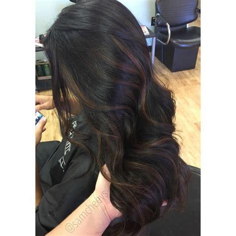 crown highlights dark hair trendy hair highlights caramel highlights for dark hair