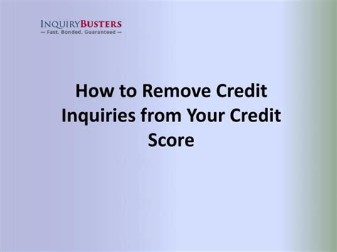 how to remove inquiries from credit report sle letter ppt how to remove credit inquiries from your credit