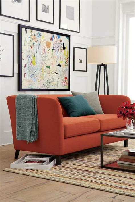 orange sofas living room orange sofa living room ideas
