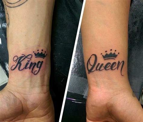 queen lyrics tattoo ideas 51 king and queen tattoos for couples tattoo wrist