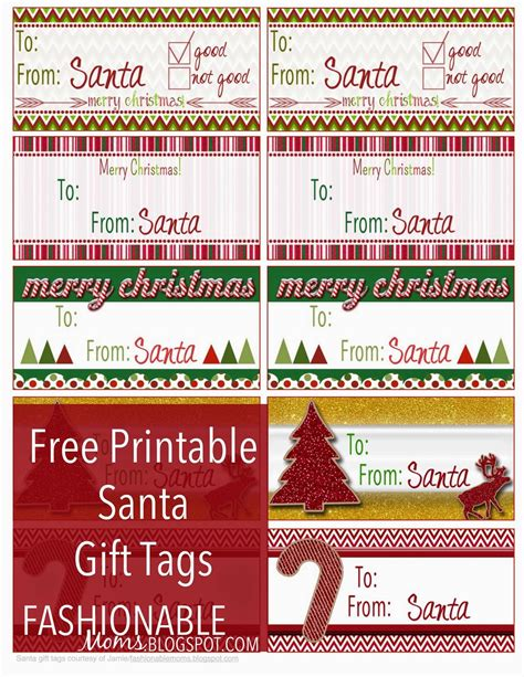 printable christmas tags from santa my fashionable designs free printable santa gift tags