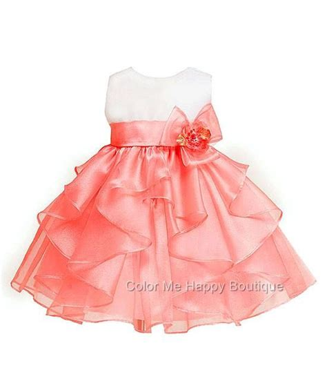 coral baby dress new baby sz 0 6m 12m 18m 24m white coral dress