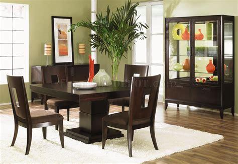 wood finish modern dining room w optional items