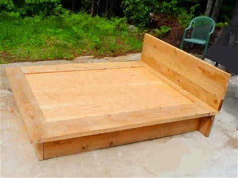 Comment Faire Une Base De Lit by Comment Fabriquer Lit En Bois De 54 Pouces Table De Lit