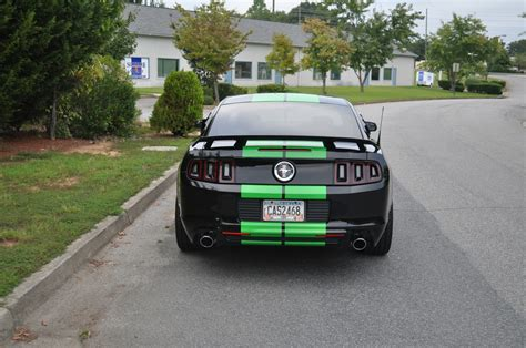 mustang shelby stripes black mustang neon green shelby stripes and rocker