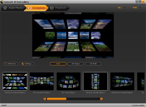 Flash Gallery Template aneesoft 3d flash gallery software make flash photo