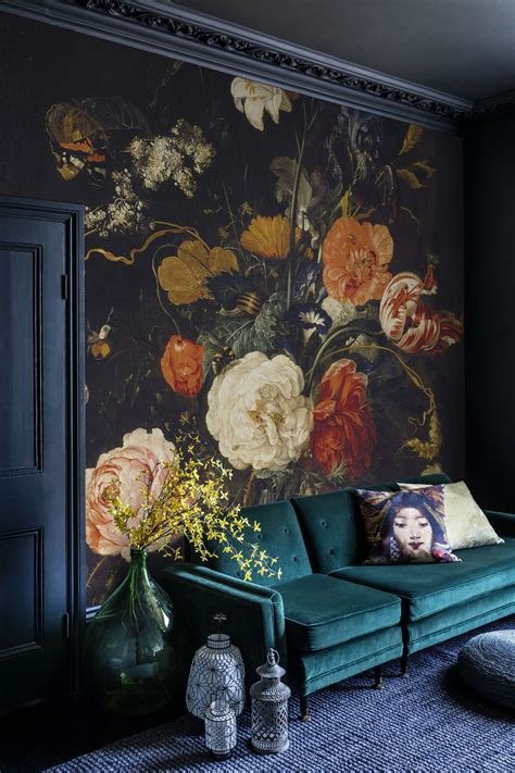 large flower wallpaper uk achieving the modern victorian style wall treatments and