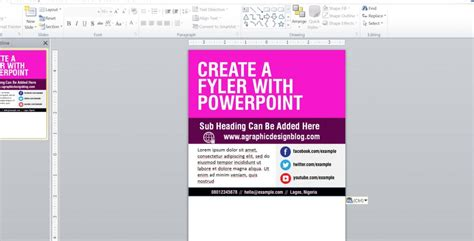 how to create a flyer with powerpoint a graphic design