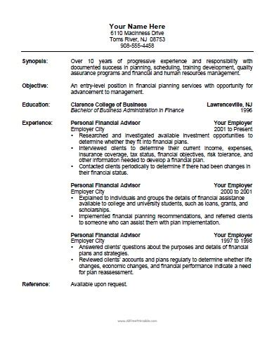 financial advisor resume sles financial advisor resume sle formatting sle resume