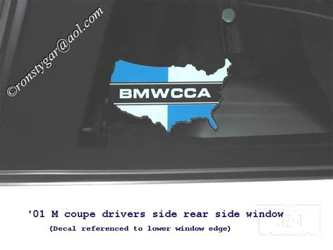 bmw cca sticker all bmwcca decal
