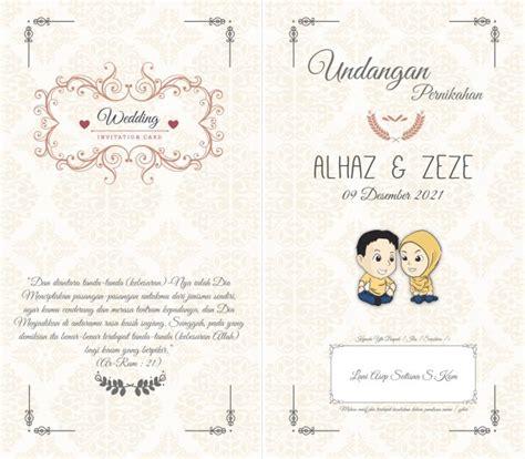 desain undangan pernikahan modern desain undangan pernikahan full simple creative