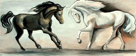 imagenes en blanco y negro de caballos caballos blanco y negro pintura y artistas