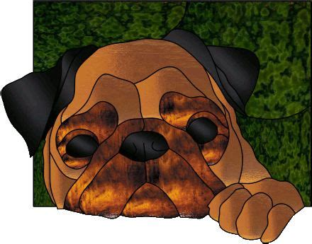 pug glass stained glass pug pugs and more pugs