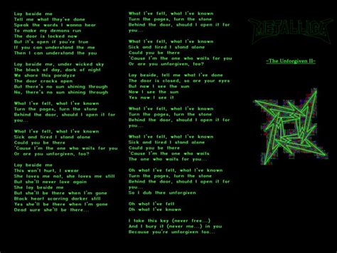 metallica unforgiven 2 lyrics metallica s the unforgiven ii by spider iced tears on