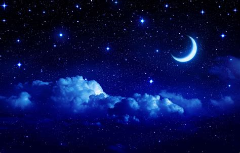 sternenhimmel le landscape sky moon year crescent cloud clouds