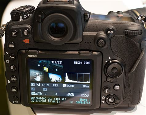 Nikon D500 Only nikon d500 d5 high iso sle lcd screenshots only