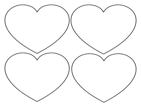 printable valentine heart shapes printable heart shapes tiny small medium outlines